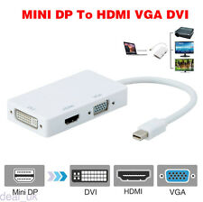 Mini Display Port to VGA DVI HDMI Cable Adapter for MacBook Air Pro 20CM Hot