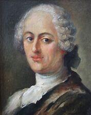 Début XXe, Portrait, Jeune homme dans l'esprit du XVIIIe Siècle, Signé, Huile