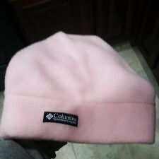 Gorgeous Columbia Pink Fleece Beanie Size Youth Small/Medium Rare!