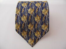 NYK LINE SILK TIE SETA CRAVATTA MADE IN ITALY  A5825