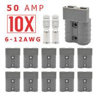 10 x  Style Plug Connectors DC Power 50 AMP 12-24V 6-12AWG Solar Caravan