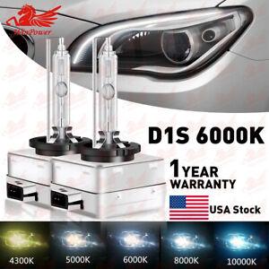 2X D1C D1S D1R 6000K White HID Xenon Headlight Light Bulbs OEM Replacement USA