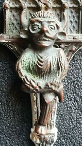 Vintage Lincoln Cathedral Imp Brass Door Knocker