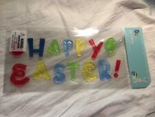 NEW HAPPY EASTER! Eggs CUTE Window Gel Clings Stickers Decorations 15 pieces! :)