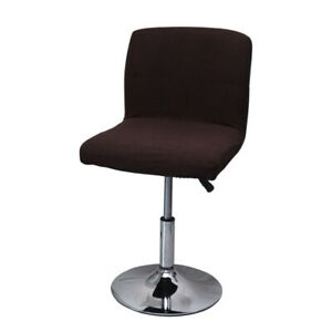 Bar Stool Chair Cover Elastic Solid Armless Slipcover Low Back Chair Protector