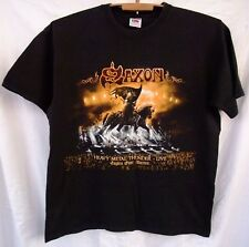 Saxon 2012 Heavy Metal Thunder Live Eagles Over Wacken concert tour t-shirt M