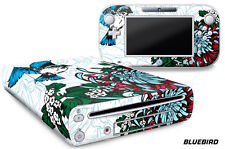 Skin Decal Wrap for Nintendo Wii U Gaming Console & Controller Sticker BLUEBIRD