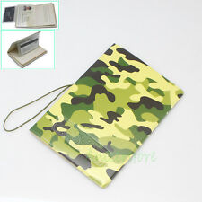 Camouflage PVC Identity Card Protect Cover Passport Holder Case Travel Journey
