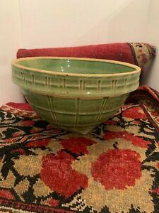 Brush McCoy Stoneware Basket weave Pattern Mixing Nesting Bowl #9/4