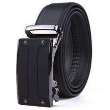 Men's Belt Leather Ratchet Belts Automatic Buckle Size Customized