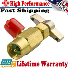 "HOT R-134a R134 AC Interdynamics DV-134 Brass CAN TAP Dispensing Valve 1/2"" ACME"