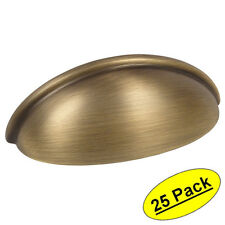 *25 Pack* Cosmas Cabinet Hardware Brushed Antique Brass Cup Handle Pull #783BAB
