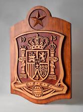 Escudo de madera Seleccion Española futbol football spanish selection wood
