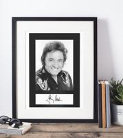 Johnny Cash Autogramm Kopie und Foto 20x30 (A4)