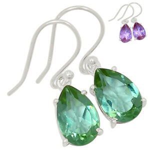 Colorchange Alexandrite (Lab.) 925 Sterling Silver Earrings Jewelry BE56688