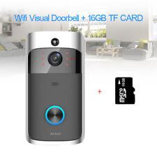 Wireless Visual WiFi Doorbell Camera Remote Phone App Controll 2 Way Talk 16gb