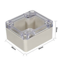 Waterproof Cover Clear Electronic Project DIY Box Enclosure Case 64X58X35mm