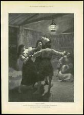 """1888 - Antique Print FINE ART """"For Faith and Freedom"""" Walter Besant    (097)"""
