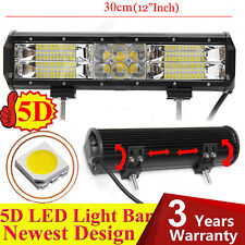 240W 5D Lens LED Light Bar Flood Spot Combo Driving Lamp Atv Suv Offroad 4X4 Hot