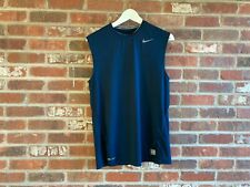 Nike Pro Fitted Navy Blue Crew Neck Sleeveless T-Shirt M