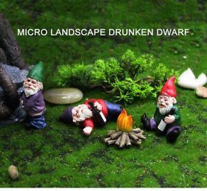 Mini Resin Dwarf Ornaments Landscape Decoration Crafts Home & Garden Accessories