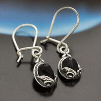 Onyx Silber 925 Ohrringe Damen Schmuck Sterlingsilber H0179
