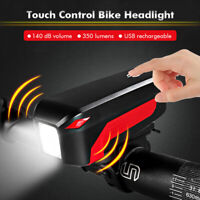 Touch Control Super Bright Bike HeadLight USB Rechargeable 350 Lumens  PN1