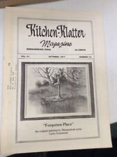 Vintage Kitchen Klatter Magazine local Recipes Shenandoah Iowa October 1977