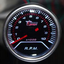"2"" 52mm Car Universal Pointer Tacho Tachometer Gauge Meter Smoke Tint Len LED"