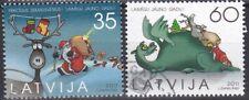 Latvia Christmas 2011  Full set of used stamps