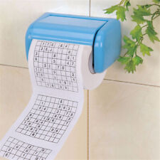 Novelty Funny Durable Number Sudoku Printed Soft Toilet Tissue Paper Roll Game