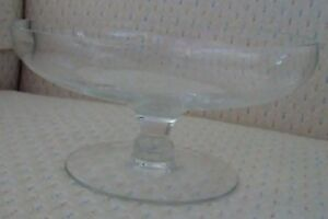 Small Pedestal Glass Bowl - Great for Candy, Floating Candles or Flowers, etc..