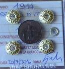 REGNO D' ITALIA PRORA 1 CENT 1914 sigillata FDC RAME ROSSO SUBALPINA