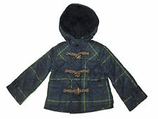 Polo Ralph Lauren Baby Boys Green Blue Blackwatch Plaid Toggle Jacket Coat 4 4T