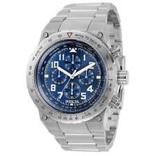Invicta Men's Watch Aviator Chronograph Blue Dial Silver Bracelet 31586