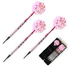 Cuesoul Soft Tip Darts 17grams Pink Barrel For Girl Lady Dart set Lady Dart