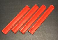Lot of 4 Squared Edge Red Plastic Scrabble Tile Racks Holders crafts