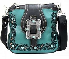 Montana West Western Floral Tooling Buckle Collection Messenger Bag/Crossbody