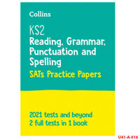 New KS2 SATs English Reading, Grammar by Collins KS2 Paperback NEW