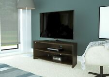 "Walnut Wood Effect Corner TV Stand with Black Shelf for up to 60"" TVs"