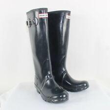 Hunter Ladies Dark Gray Rain Boots Size 5M/6F/ EU 37