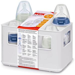 NUK FIRST CHOICE+ Baby Anti-Colic SET 4x Babyflaschen+Trinksaugern 0-6 Mon blau
