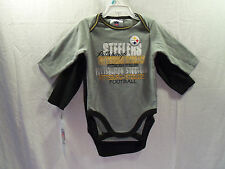 Pittsburgh Steelers NFL Bodysuit (2 piece) 3/6 Months  NEW