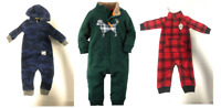 NEW Carter's Baby Boy's 1 piece Fleece Jumpsuit  - 6 MONTHS / 9 MONTHS