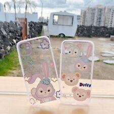 For iPhone 11 Pro Max XS 7 8+ Cute Disney Cartoon Duffy Bear Glitter phone Case