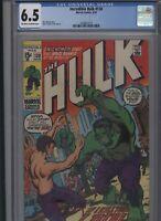 Incredible Hulk #130 CGC 6.5 Roy Thomas HERB TRIMPE 1970