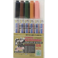GSI Creos GMS113 Gundam Real Touch Marker Set 2 (6 Color Pens)