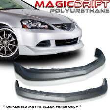 05-06 2005+ ACURA RSX DC5 MUG TYPE POLY URETHANE BLACK FRONT BUMPER LIP SPOILER