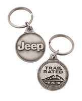 New Dodge Stripes Rhombus Key Tag Keychain Key Chain Red /& Antique Silver