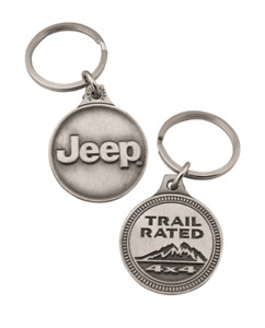New Official Jeep Trail Rated Badge Key Chain Keychain Key Tag Pewter Mopar